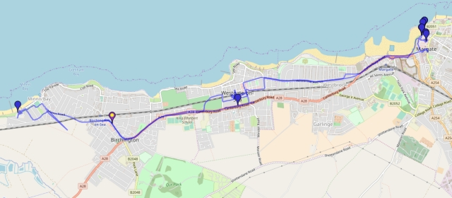 From Birchington to Margate and back